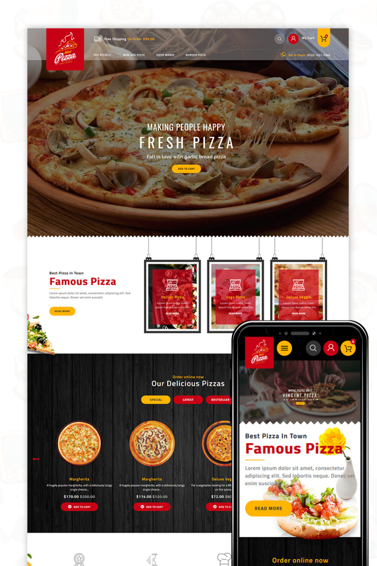 Pizza PrestaShop Themes