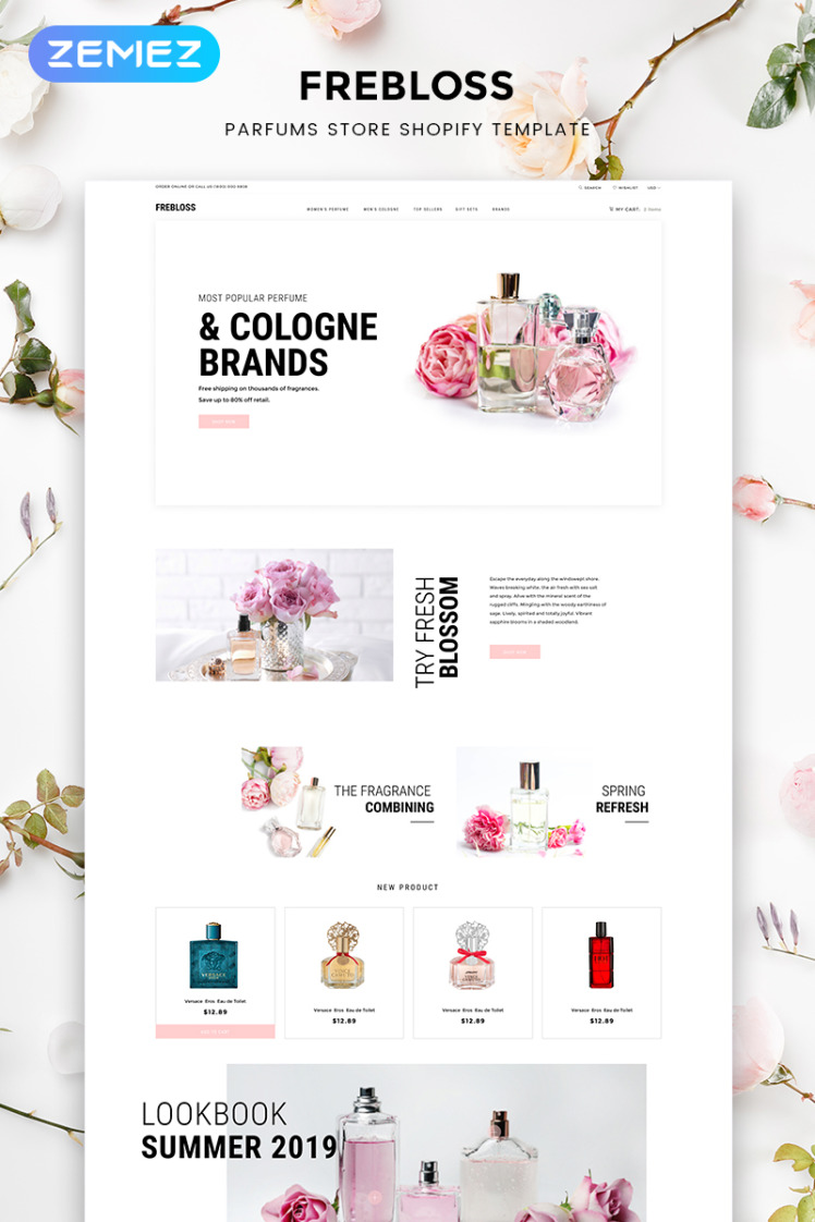 Frebloss Perfume Store Clean Shopify Theme
