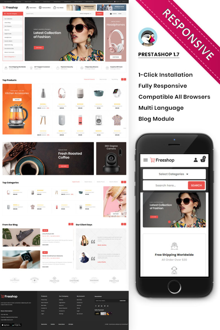 Freeshop The Mega Store Responsive PrestaShop Themes