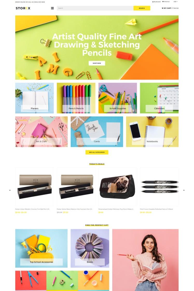 Storex Stationery Shop Clean Shopify Theme