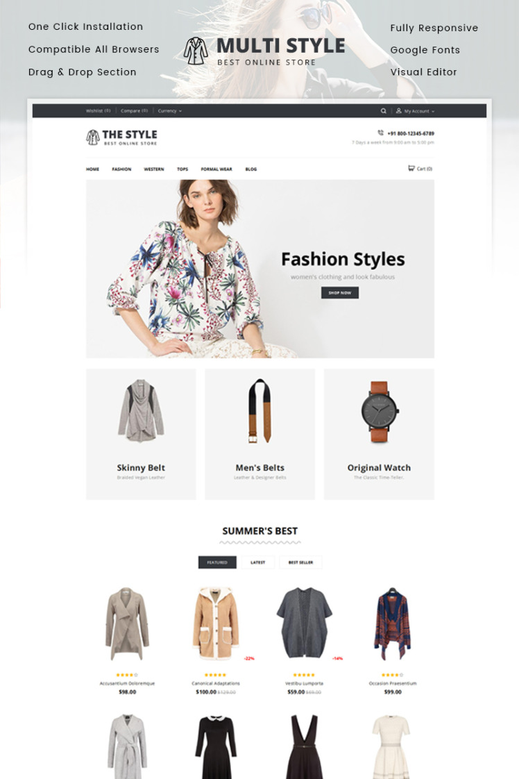 The Style Minimal Store Shopify Themes