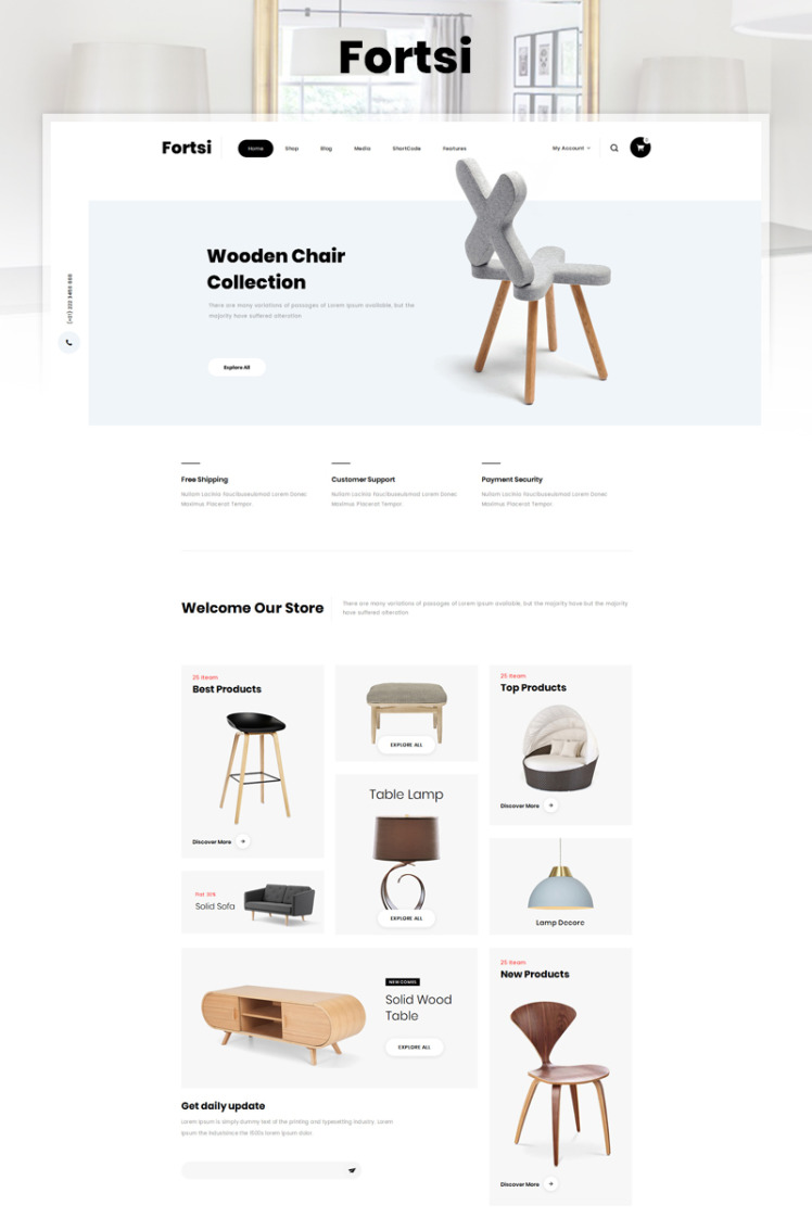 Fortsi Furniture Store WooCommerce Themes