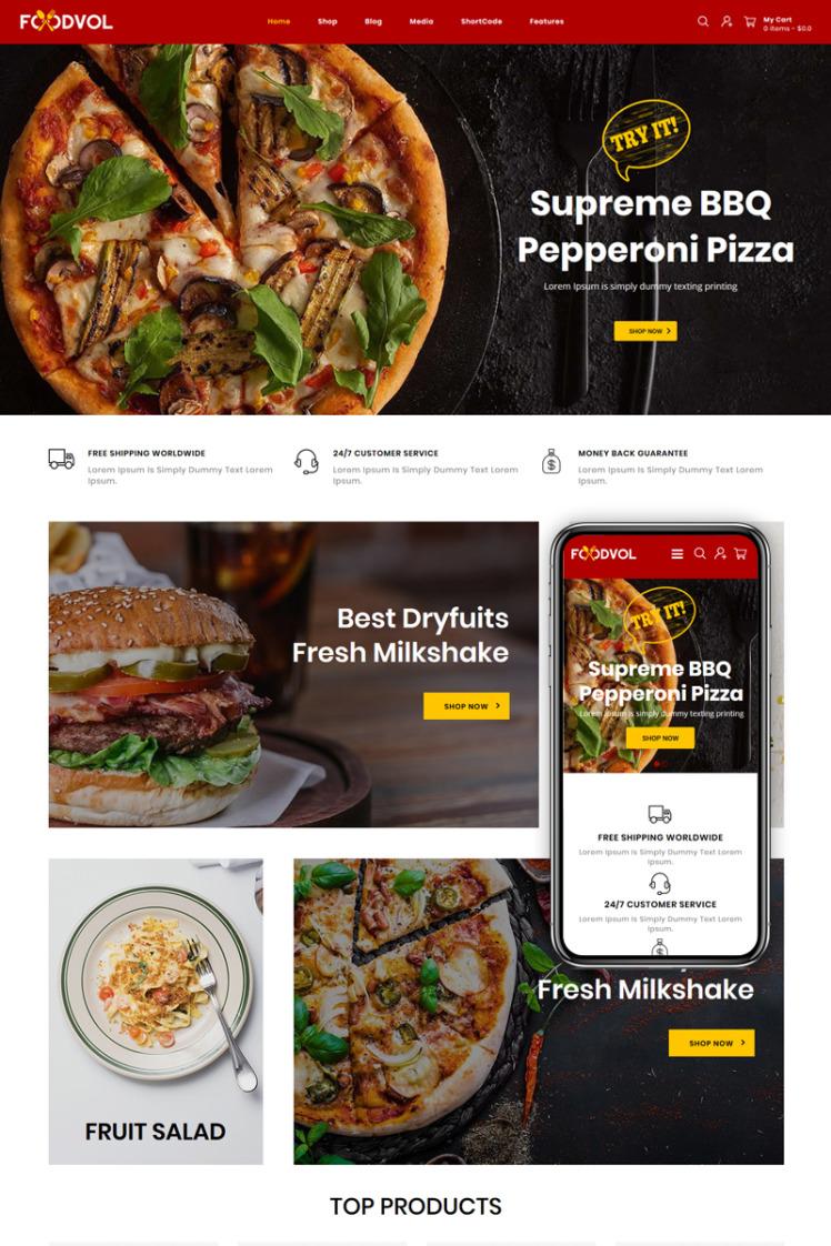 Foodvol Restaurants Store WooCommerce Themes
