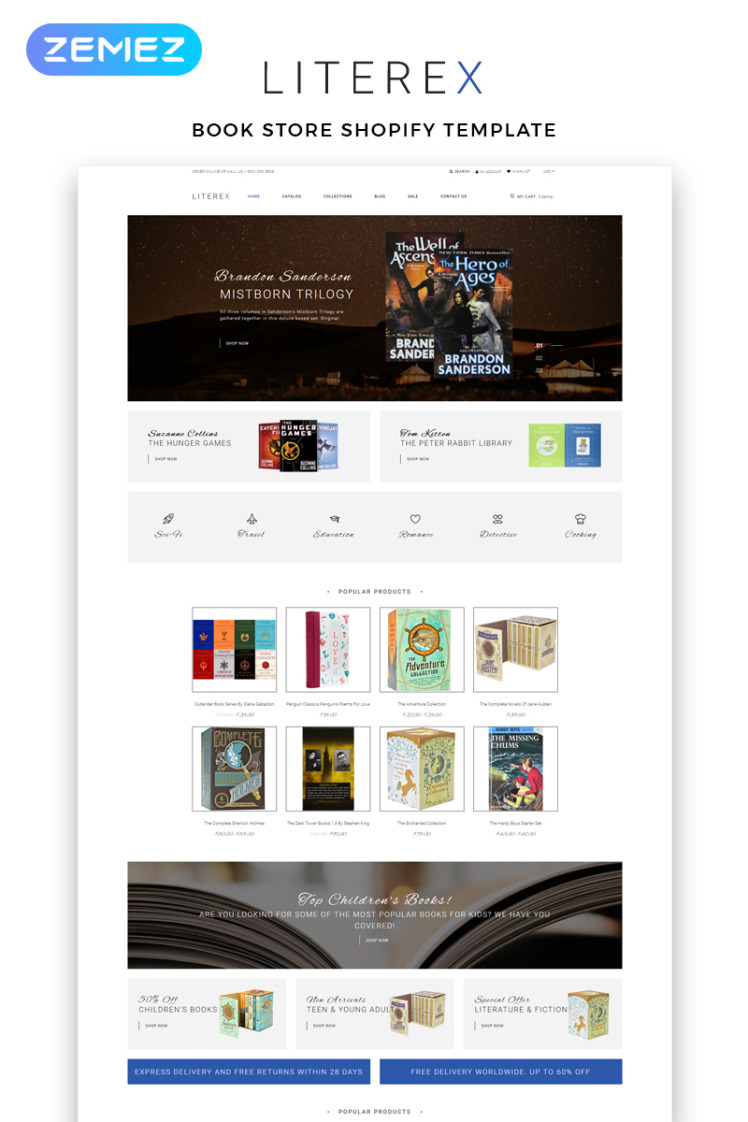 Literex Book Store Shopify Multipage Shopify Themes