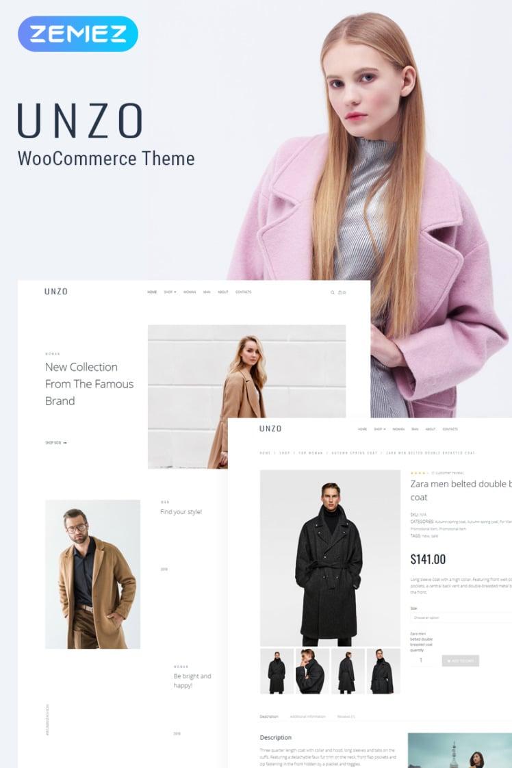 Unzo Apparel Shop ECommerce Minimal Elementor WooCommerce Theme