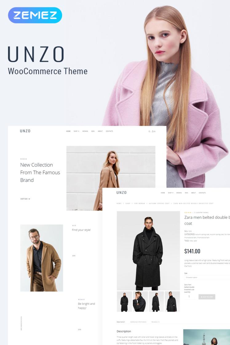 Unzo Apparel Shop ECommerce Minimal Elementor WooCommerce Themes