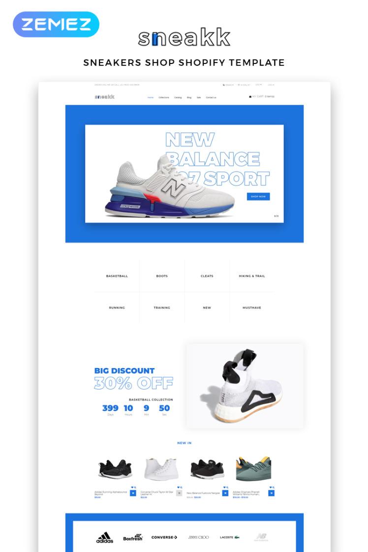 Sneakk Fashion Store Multipage Clean Shopify Themes
