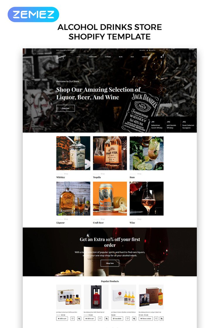 Beverages Drinks Beverages eCommerce Stylish Shopify Theme