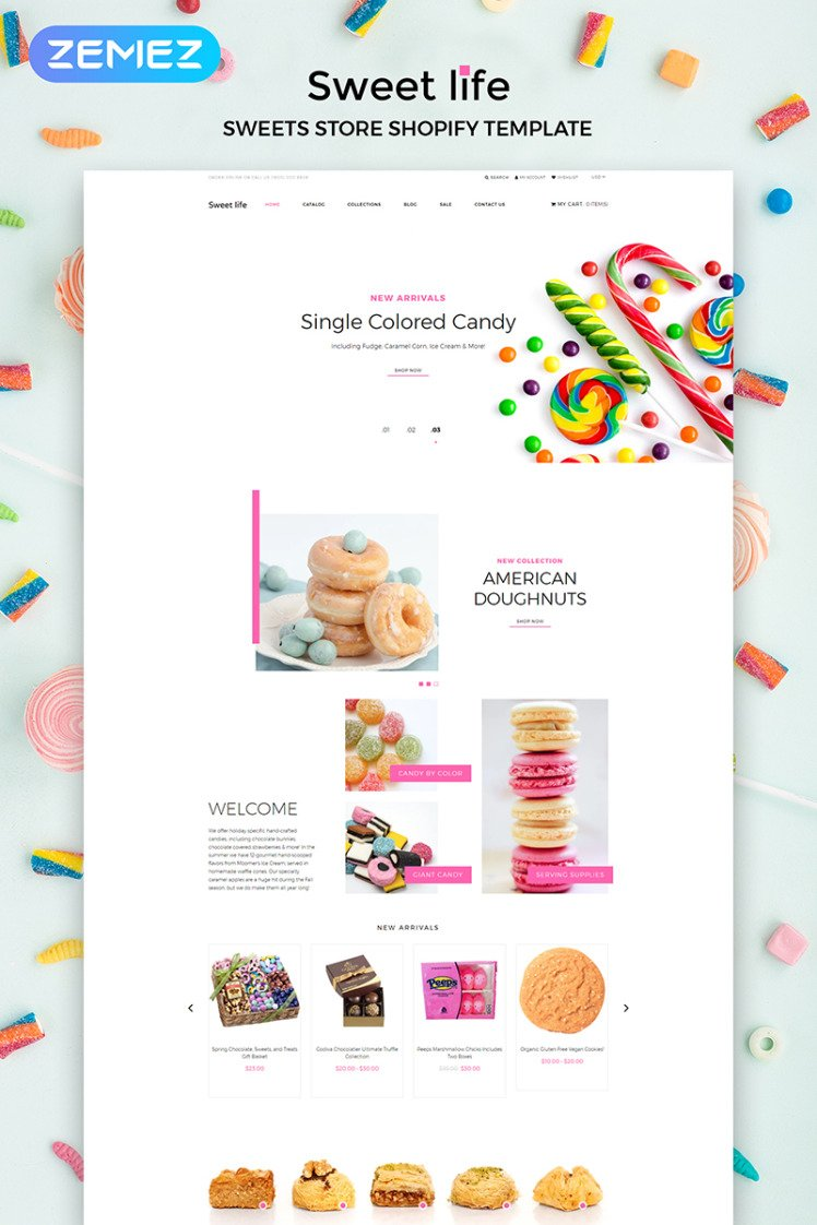 Sweet Life Sweet Store Multipage Clean Shopify Themes