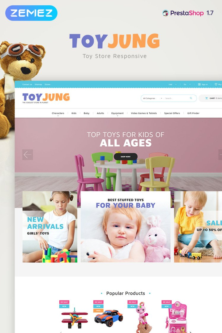 ToyJung Plaything Store Bootstrap Ecommerce Clean PrestaShop Themes
