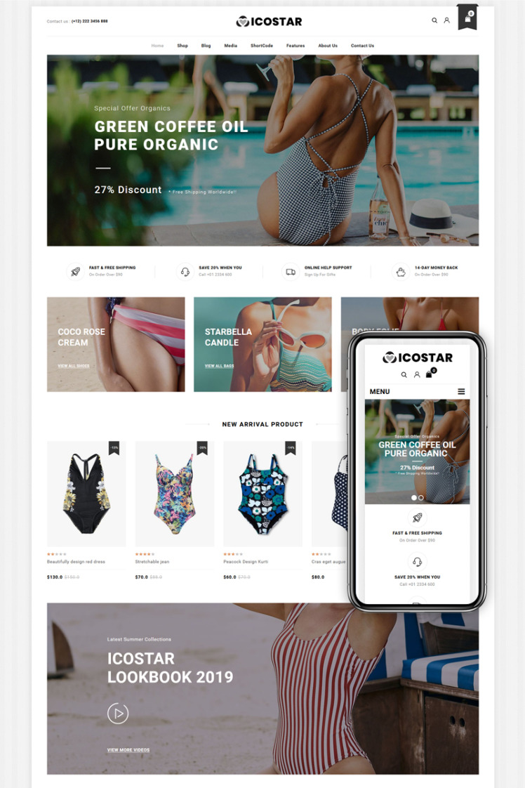 Icostar Lingerie Store WooCommerce Themes