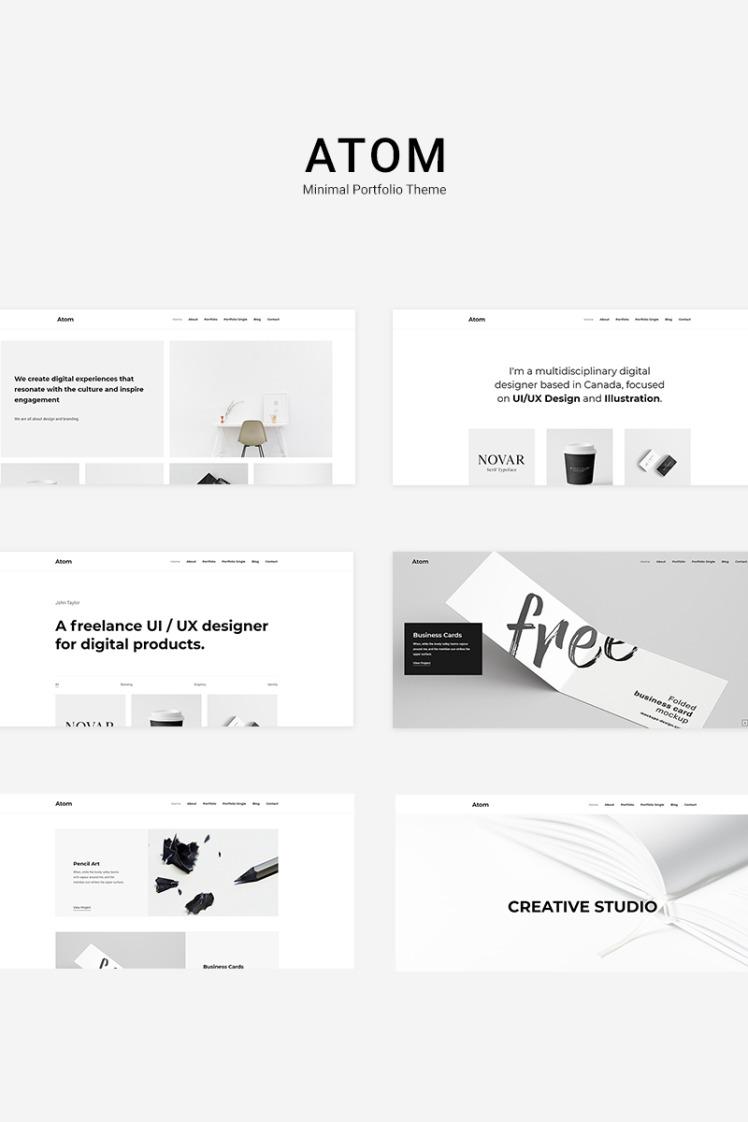 Atom Minimal Portfolio WordPress Themes