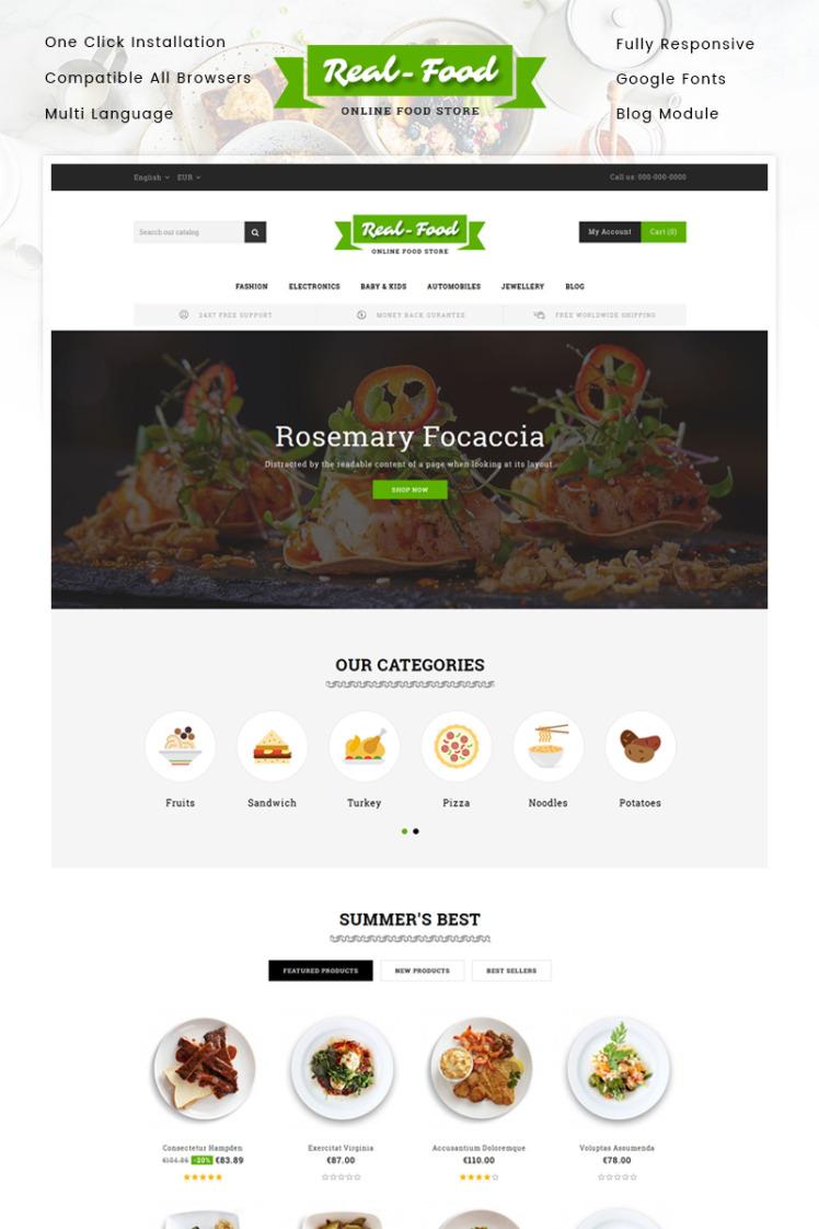 Real Food Restaurant Store PrestaShop Themes