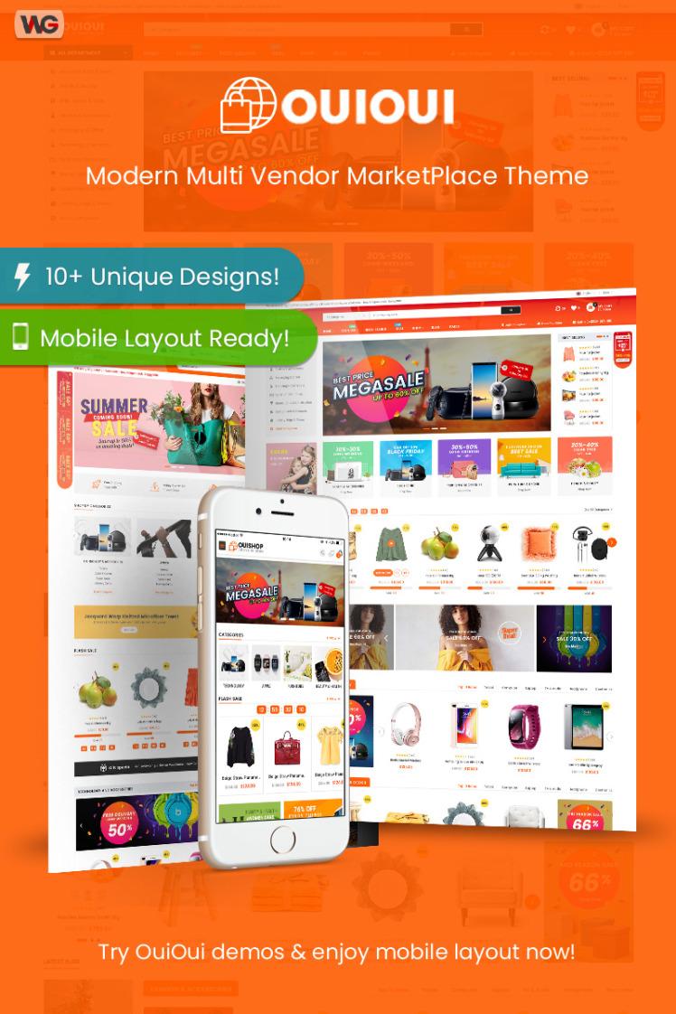 OuiOui Multi Vendor MarketPlace WooCommerce Themes