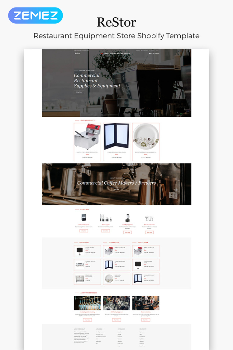 ReStore Housewares Multipage Clean Shopify Themes