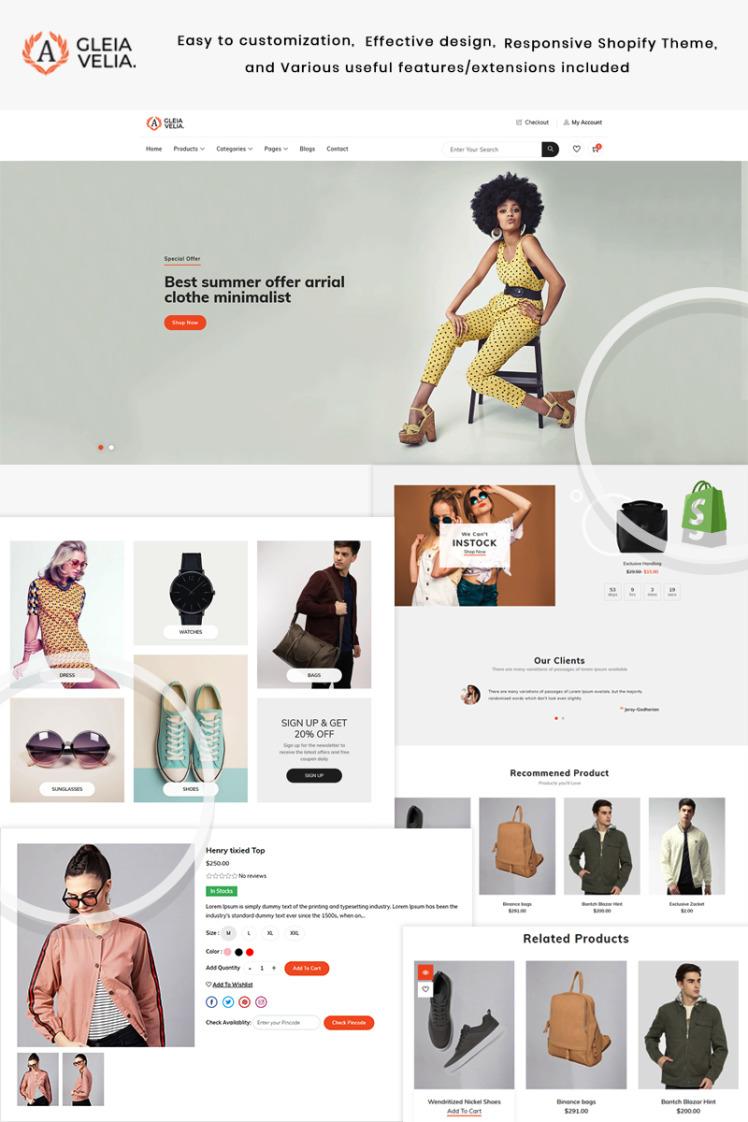A Gelia Velia The Fashion Shopify Theme