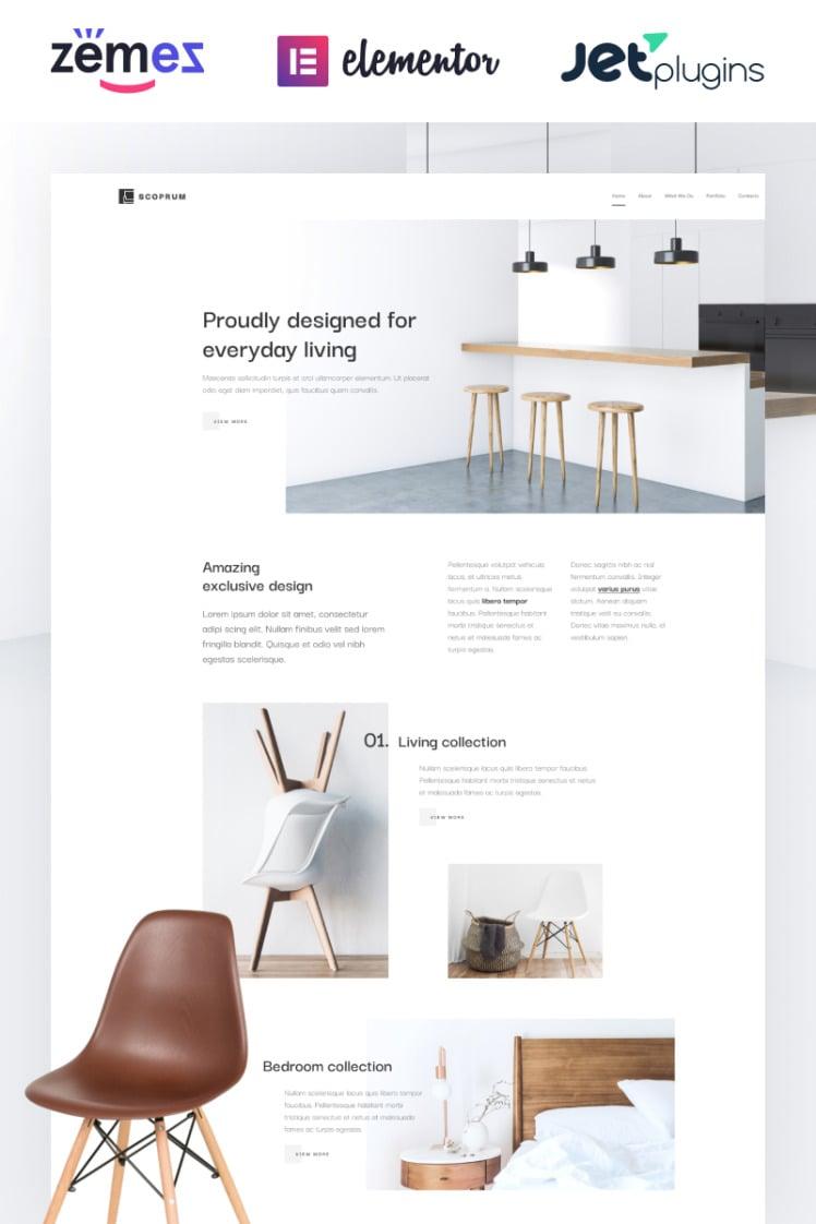 Scoprum Furniture design for classy studios WordPress Themes