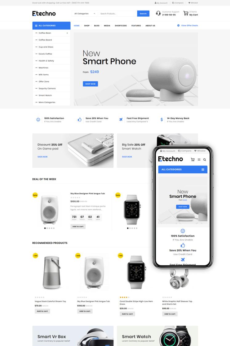 Etechno Multipurpose Store WooCommerce Themes