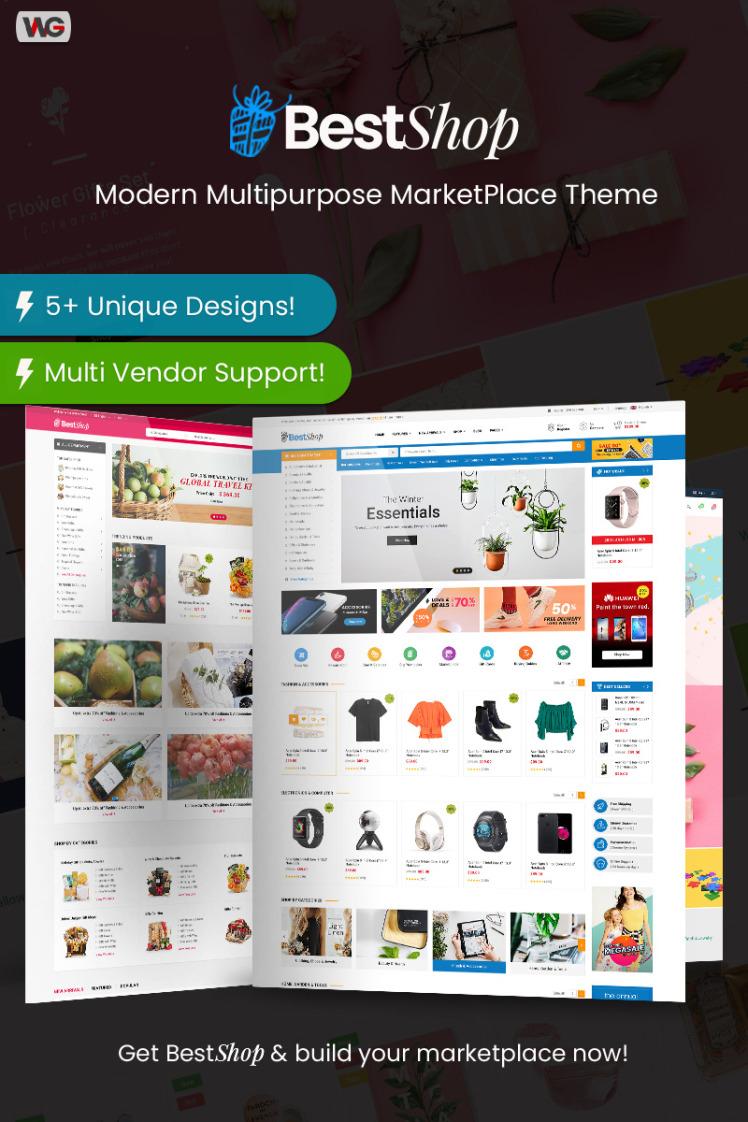 BestShop Multi Vendor MarketPlace WooCommerce WordPress Theme