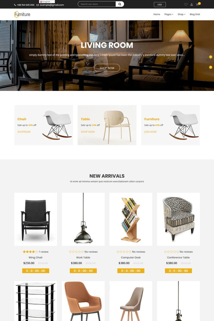Navana Furniture Interior Shopify Themes