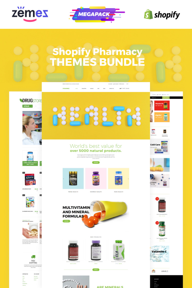 Pharmacy Bundle Shopify Themes