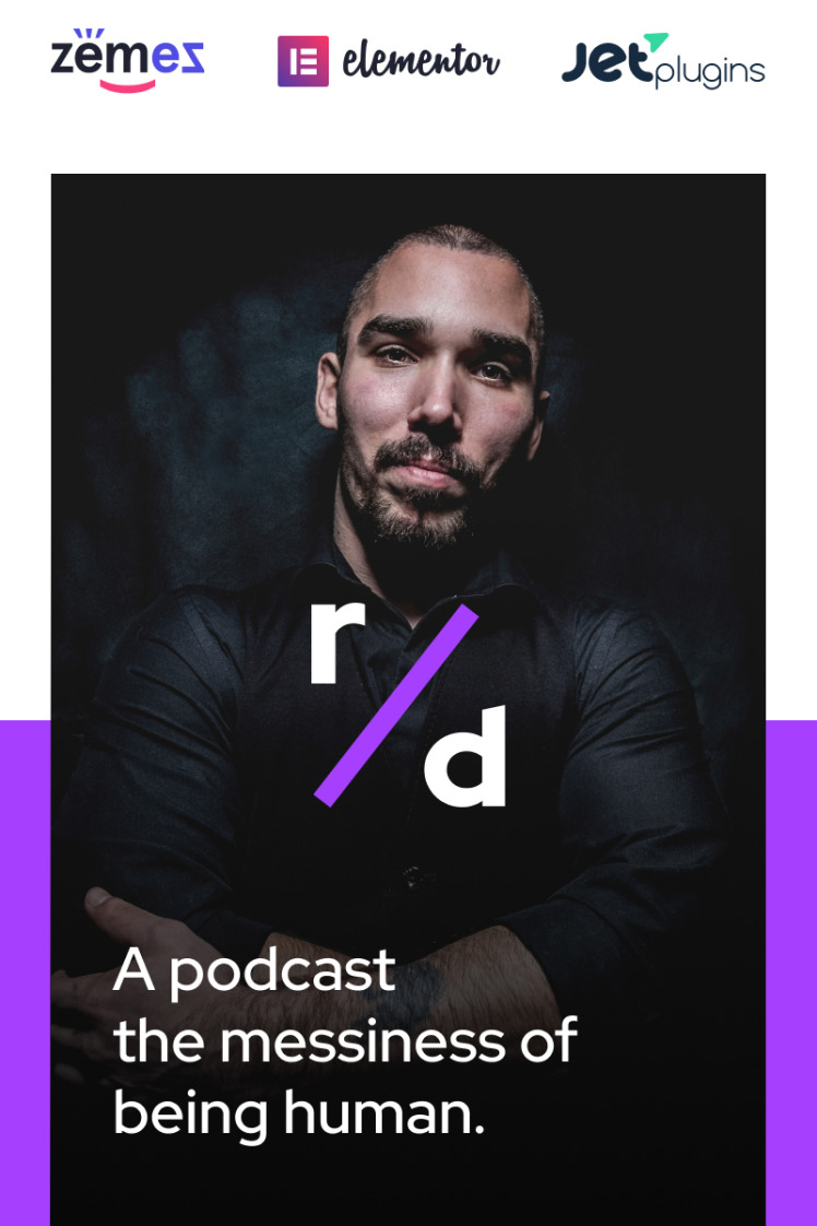 Richard Dream Podcast Website Template with Audio and Video Players WordPress Theme