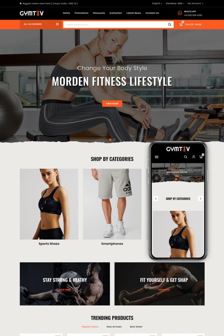 Gymtiv Fitness Store PrestaShop Themes