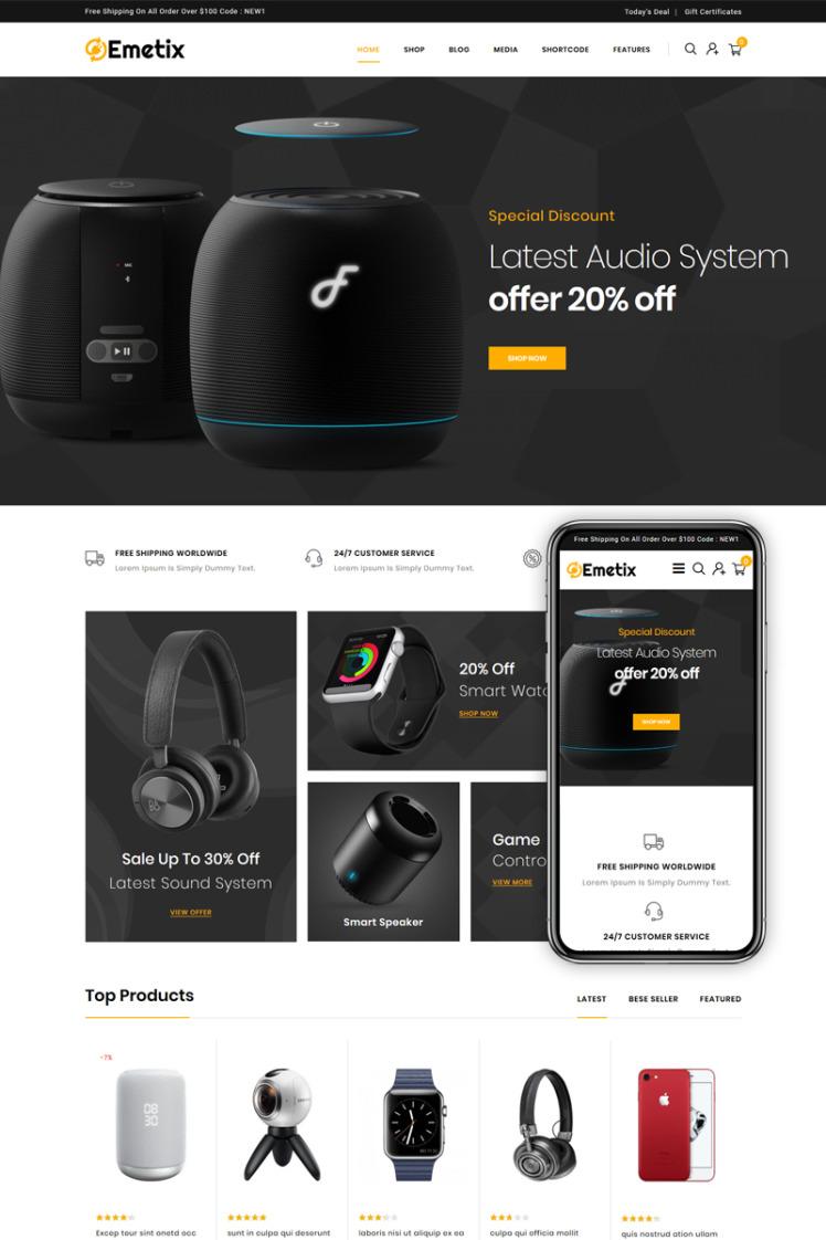 Emetix Digital Shop WooCommerce Themes