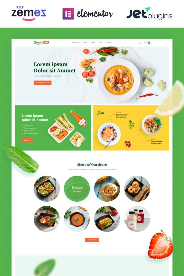 GoodFood Stylish Organic Food Template WooCommerce Themes