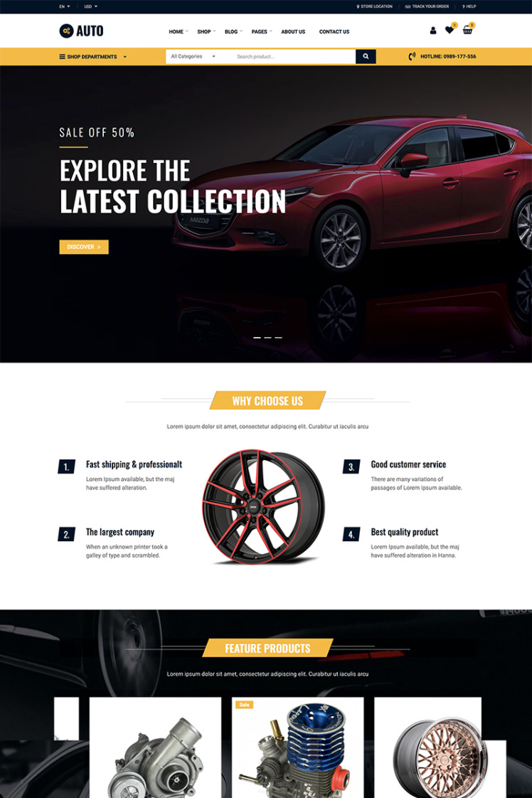 Auto Repair Car Mechanic Services WooCommerce Themes