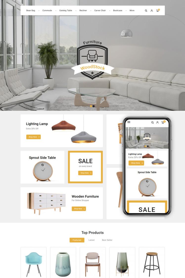 WoodStock Home Decor Store PrestaShop Themes