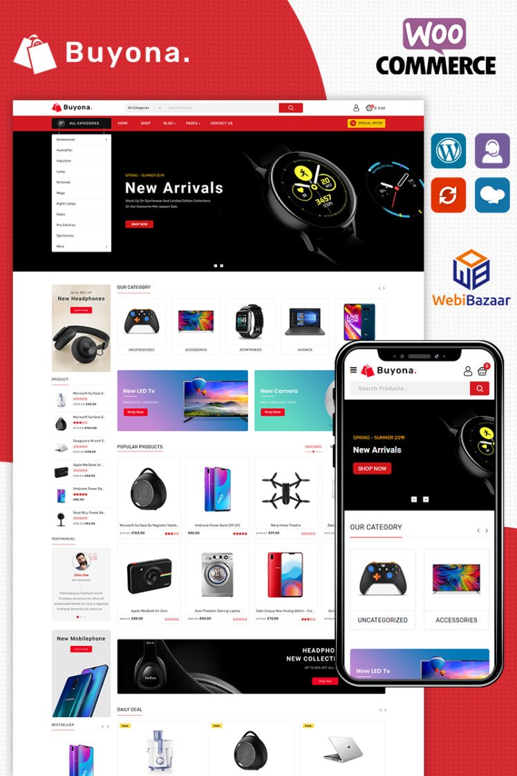 Buyona Electronic WooCommerce Themes