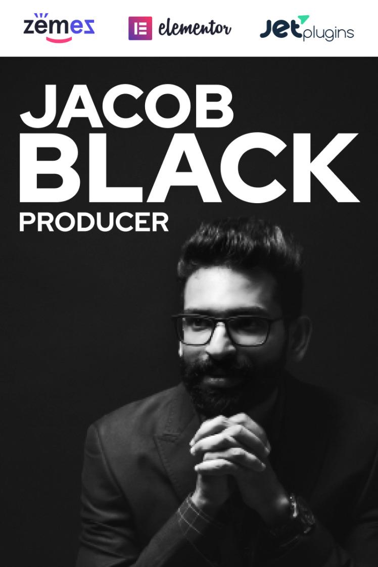 Jacob Black Talented Music Producer Website Design WordPress Themes