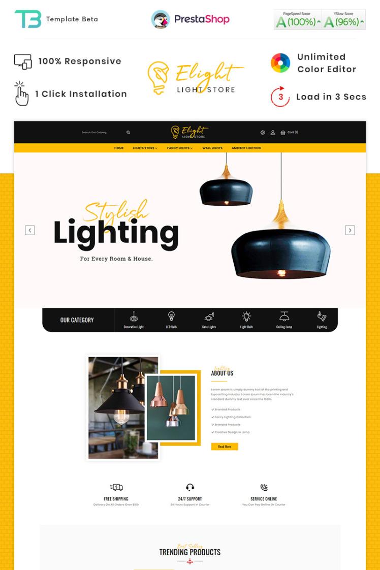 ELight LED Lighting Store PrestaShop Themes
