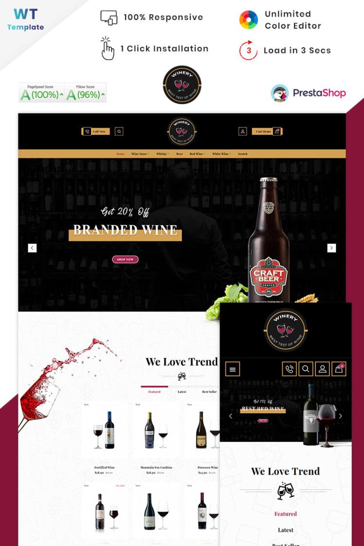 Winery France Winery Wine PrestaShop Themes