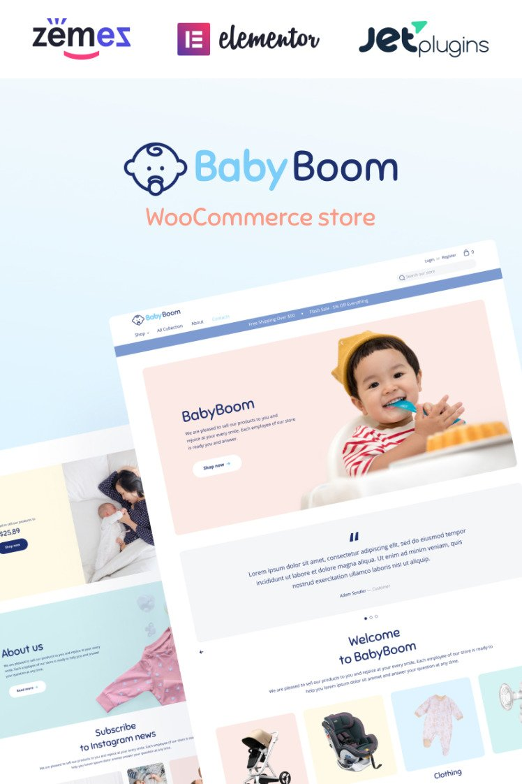 BabyBoom Cute And Modern Baby WooCommerce Themes
