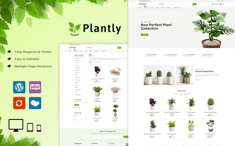Plantly Plants And Nursery WooCommerce Theme