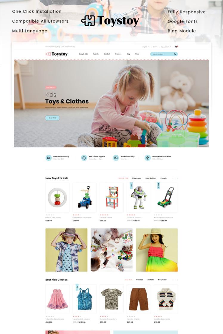 ToysToy Kids Toy Store PrestaShop Themes