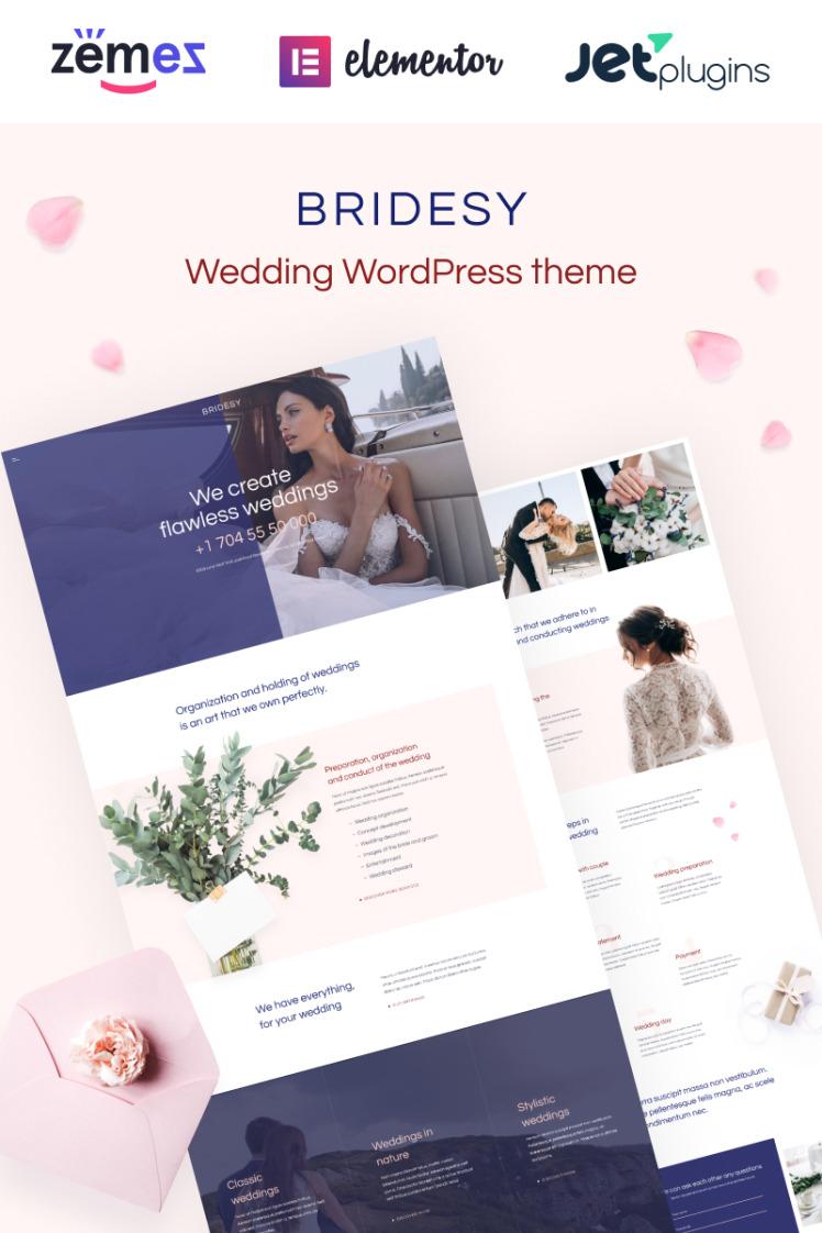 Bridesy Tender And Neat Wedding WordPress Themes