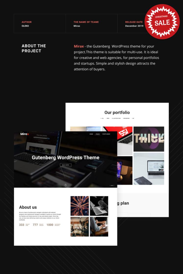 Mirax Gutenberg WordPress Themes