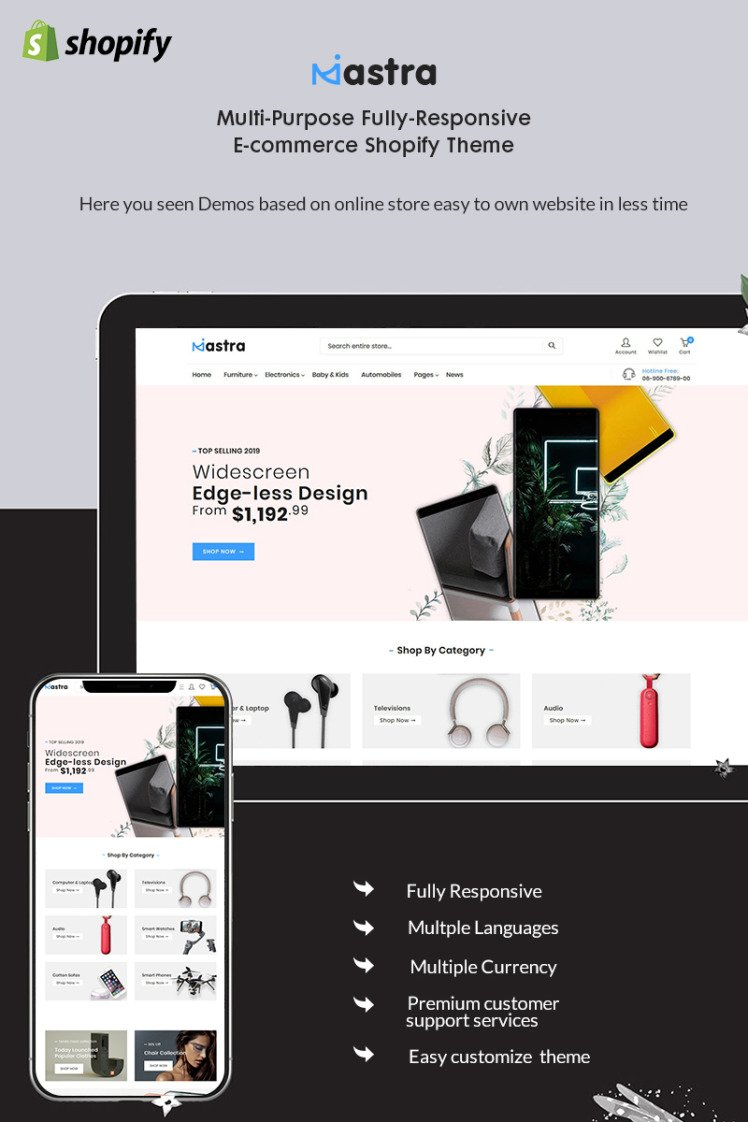 Mastra The Responsive Multistore Shopify Themes