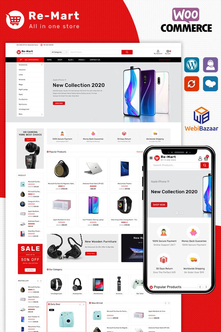 Remart MultiPurpose Electronic Store WooCommerce Theme