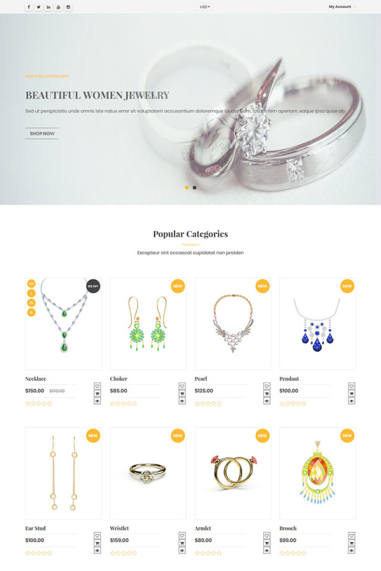 Venusjewelers Multipurpose Dropshipping Shopify Themes