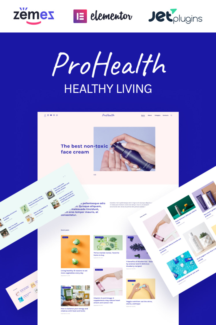 ProHealth Neat And Tender Healthy Living WordPress Theme