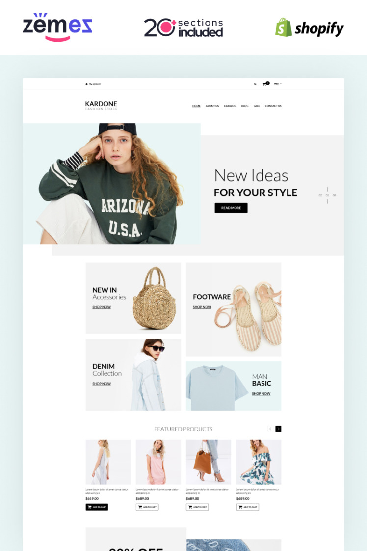 Kardone Clothing Store Modern Shopify Themes