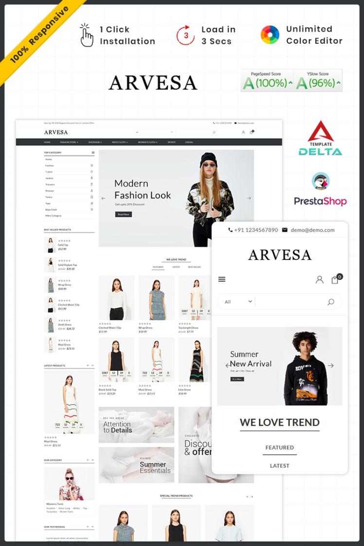 Fashi Arvesa Fashion Store PrestaShop Themes