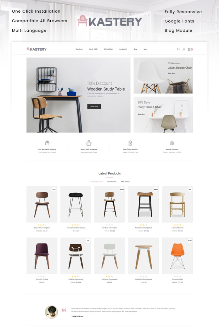 Kastery Wood Store PrestaShop Themes