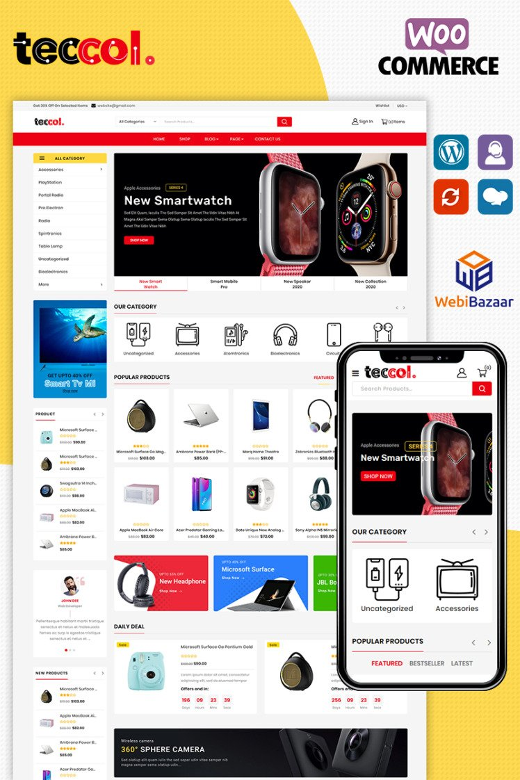 Teccol Electronic WooCommerce Themes