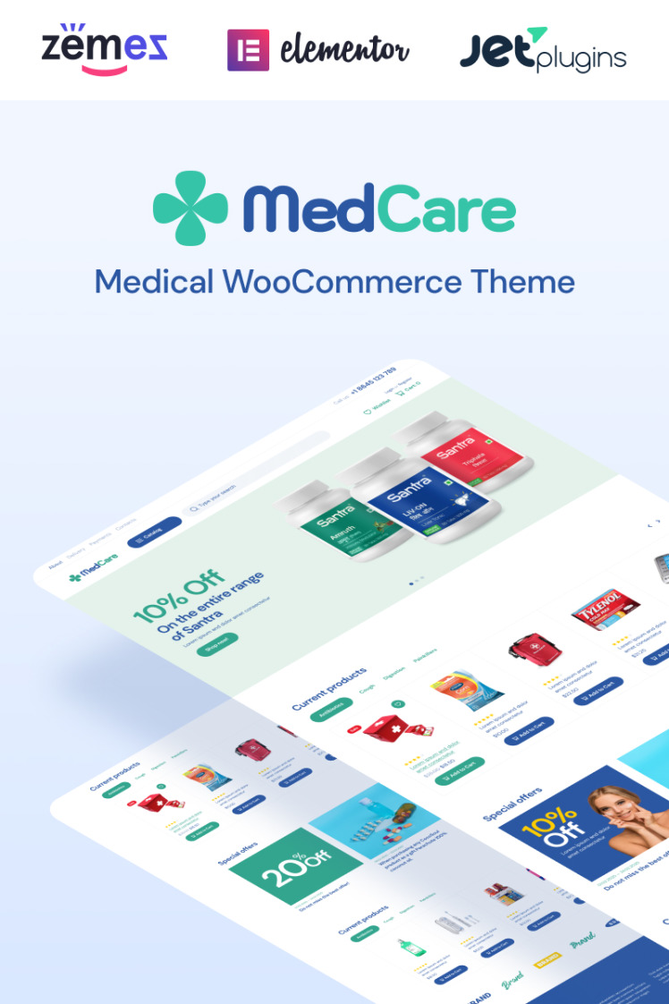 MedCare Soft and Responsive Pharmacy WooCommerce Themes