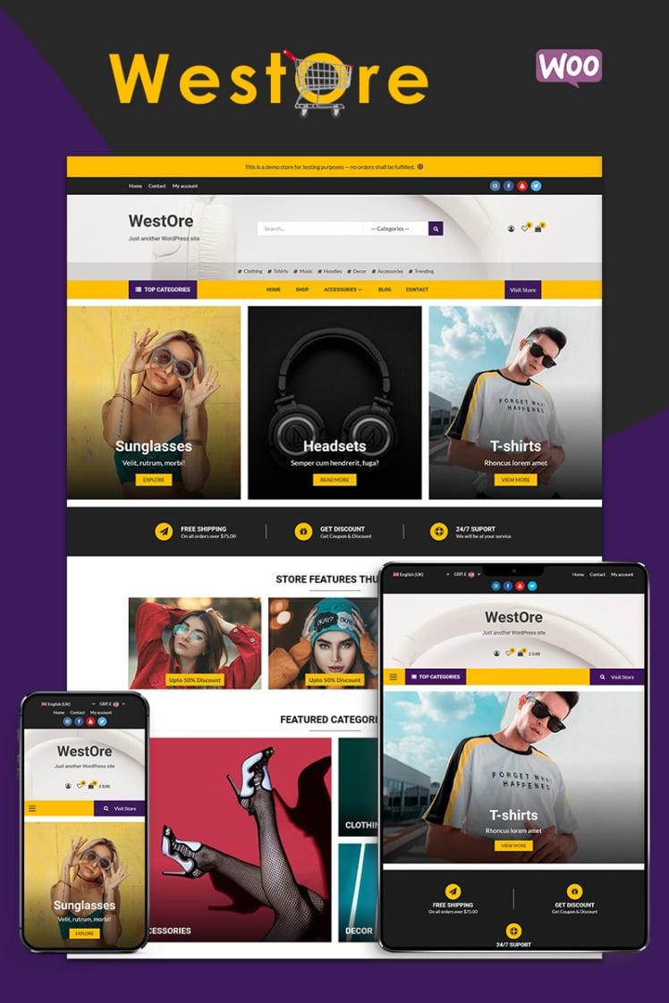 WestOre Modern Flexible and Multipurpose WooCommerce Theme